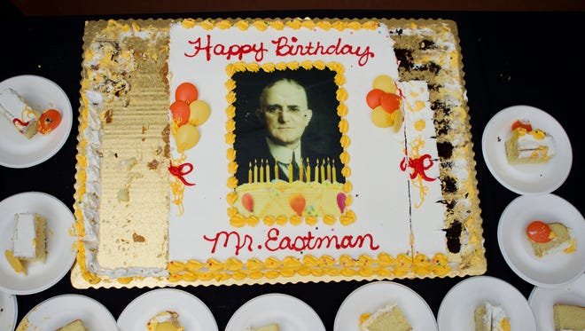 """Even the birthday cake enjoyed during a 160th birthday celebration for George Eastman at the George Eastman House last year was on the formal side, addressing him as """"Mr. Eastman,"""" not """"George."""""""