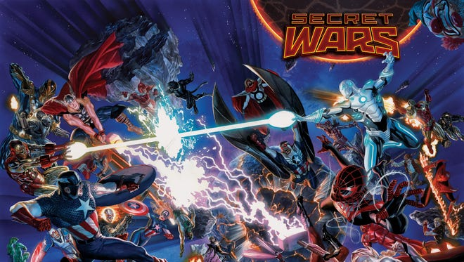 "A massive amount of characters enter the fray — even multiple versions of some — in Marvel Comics' ""Secret Wars"" next year."