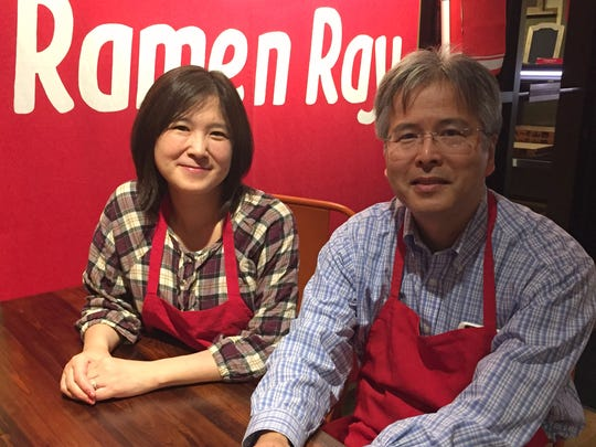 Ramen Ray owners Yoko and Jun Kuramoto.