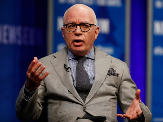 In this 2017, file photo, Michael Wolff of The Hollywood Reporter speaks at the Newseum in Washington.