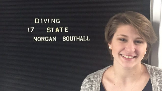 Morgan Southall was the first Amelia diver to make the state meet and could become the first from West Clermont High School next winter.