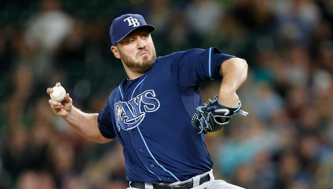 Kevin Jepsen went 2-5 with a 2.81 ERA in 46 appearances for the Rays this season.