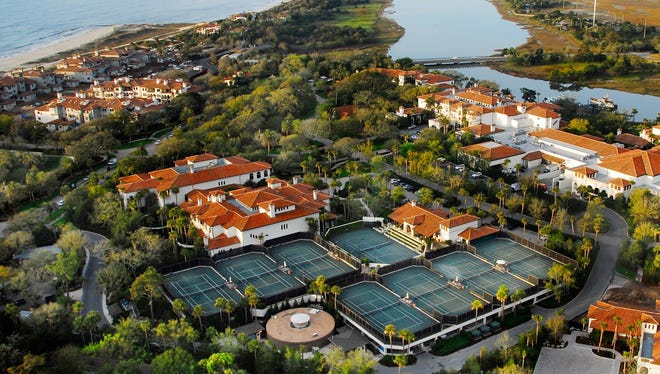 Sea Island, Ga., offers video analysis of tennis players' strokes. A highlight is the Friday Night Lights exhibition. featuring tournament-level play.