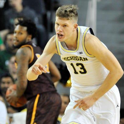 Michigan sophomore forward Moritz Wagner is averaging