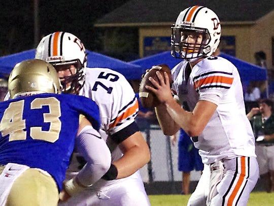 Dickson County quarterback Jacob Murphree