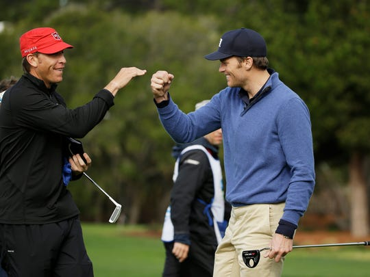 Tom Brady takes part in the 2014 AT&T Pebble Beach Pro-Am.