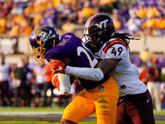 Versatile Virginia Tech linebacker Tremaine Edmunds