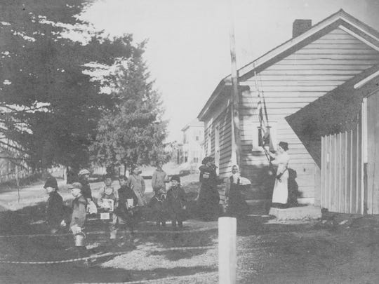 The Dorchester school in 1910 in the Town of Triangle, which is now the location of Dorchester Park.
