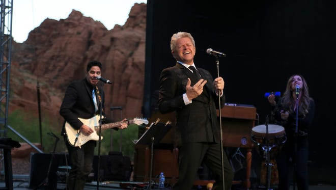 Peter Cetera performs with his band at Tuacahn Amphitheatre in Ivins City.