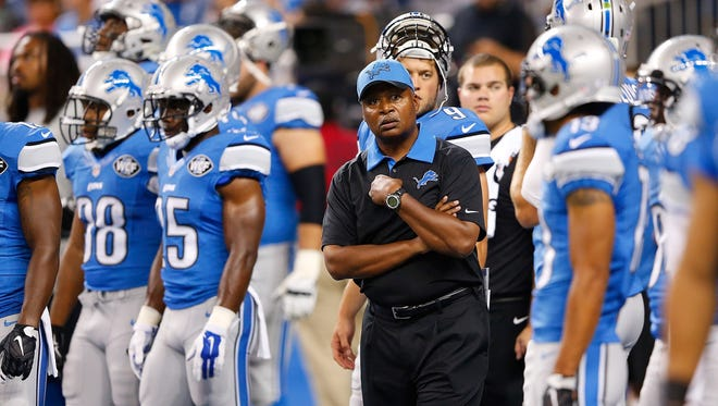Detroit Lions head football coach Jim Caldwell.