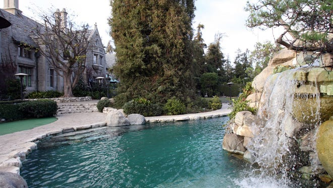 A view of the Playboy Mansion in Beverly Hills. The Playboy Mansion is up for sale for $200 million, Playboy Enterprises announced Monday.
