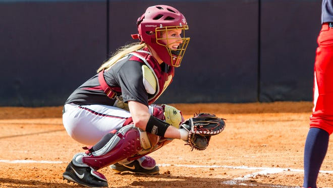 Catcher Sydney Broderick is hitting .380 with  three home runs and 32 RBIs for FSU this season.
