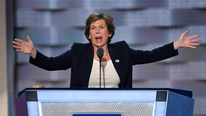 Randi Weingarten, President of the American Federation of Teachers, speaks during the 2016 Democratic National Convention.