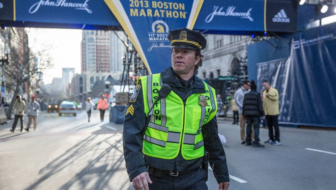 """Mark Wahlberg plays Boston Police Sgt. Tommy Saunders in the film """"Patriots Day."""" The movie opens Thursday at Regal West Manchester Stadium 13, Frank Theatres Queensgate Stadium 13 and R/C Hanover Movies."""