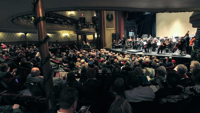 Oshkosh Symphony Orchestra performs a holiday concert at the Grand Opera House in this 2012 file photo.