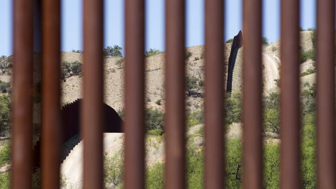 Customs and Border Protection took members of the media into the desert April 20, 2017, near Nogales, Ariz., to raise public awareness of the dangers migrants face crossing, especially during the summer.