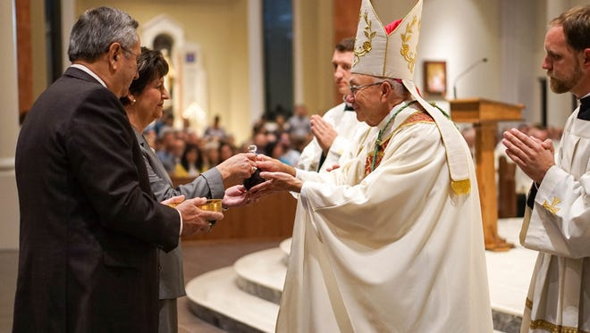 Bishop J. Douglas Deshotel celebrates special Blessing and Dedication Ceremony of the new St. Pius X Church in Lafayette. October 5, 2017.