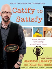 """""""Catify to Satisfy: Simple Solutions for Creating a Cat-Friendly Home"""" by Jackson Galaxy and Kate Benjamin."""