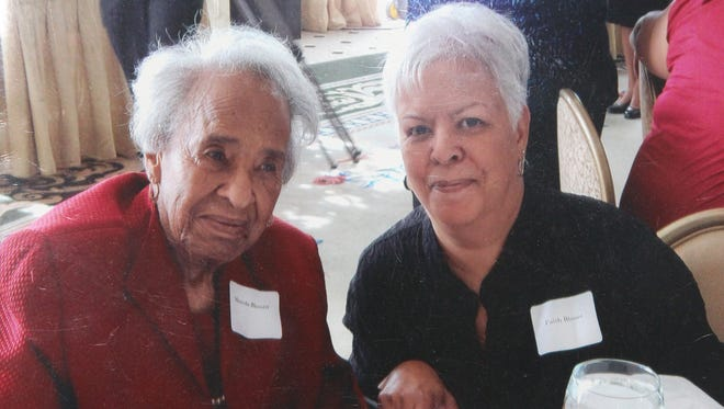 "Mineola ""Minnie"" Blount and her daughter, Faith, circa 2010."