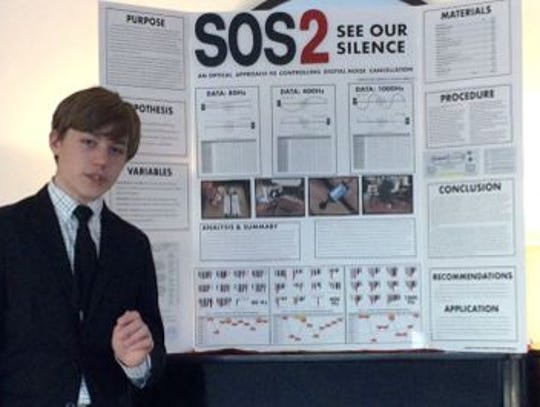 Zach Hessler at an earlier science fair competition.