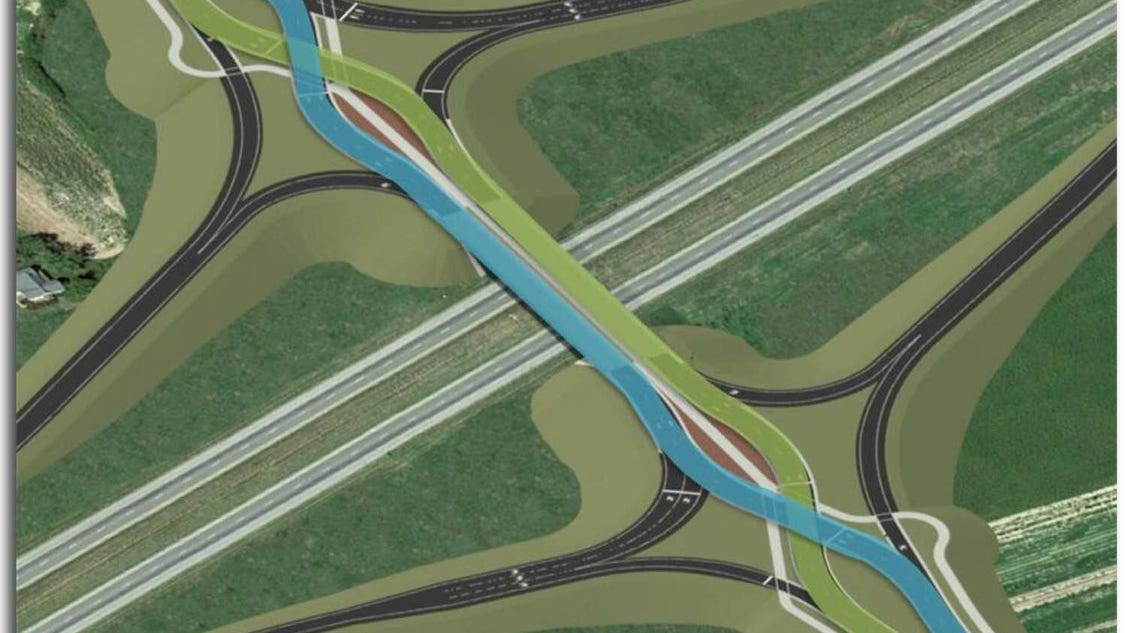 Diverging Diamond Interchange In Greenwood Is Only The