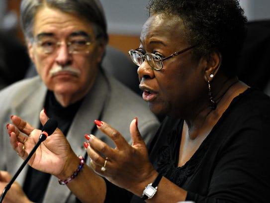 York City School District Board President Margie Orr