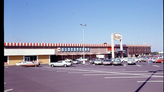 Lancaster Mall is seen from the south end of the mall in 1972.