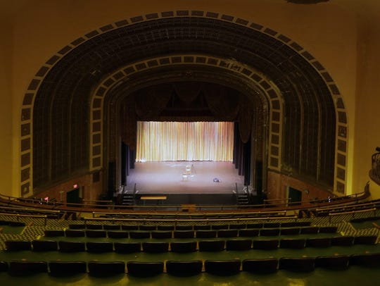 The stage of Asbury Park's Paramount Theatre, seen