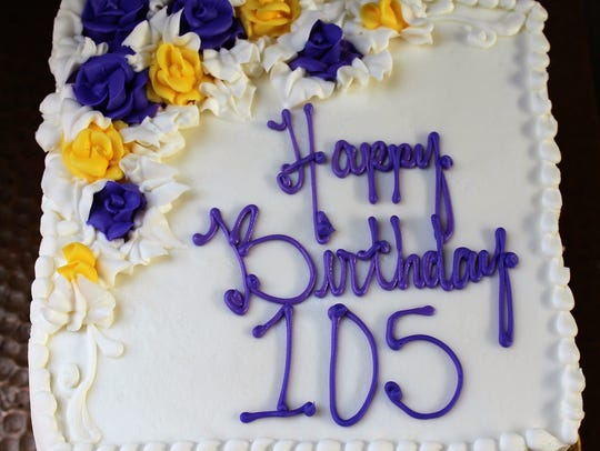 Dr. Virginia Connally's birthday cake Monday was decorated
