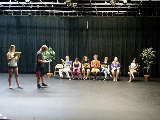 Local youth rehearse for the Wisconsin Rapids Community