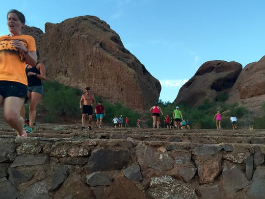 Running steps at Papago Park Amphitheater is a staple