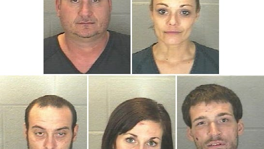 These five people were arrested on various drug-related charges following an early morning chase Tuesday.