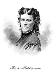Lizzie Mathewson, wife of William Mathewson, around