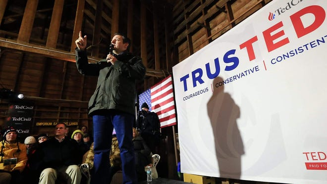 "In this January 2016 photo, presidential candidate U.S. Sen. Ted Cruz, R-Texas, speaks at the Betti Barn in Rye ahead of the New Hampshire presidential primary. The Rockingham County Republican Committee will host its election-year ""Chowderfest"" Monday, Sept. 21 at the barn."