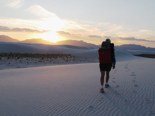 Visitors to White Sands National Monument can hike any of the monument's five established trails.