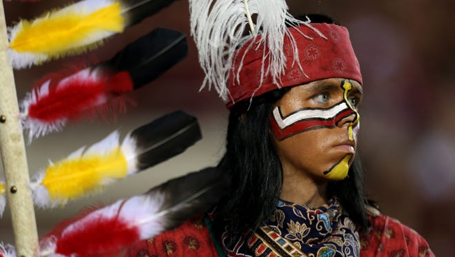 Chief Osceola watches as Florida State hosts the Clemson Tigers at Doak Campbell Stadium on Saturday Sept., 20, 2014.