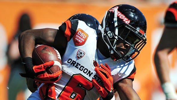 Oregon State wide receiver Victor Bolden led the Beavers