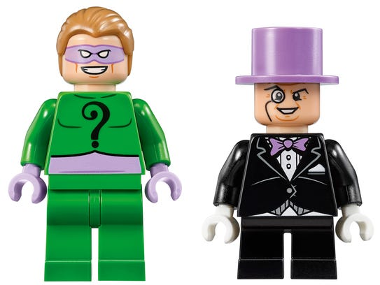 LEGO Riddler and Penguin are probably up to no good.
