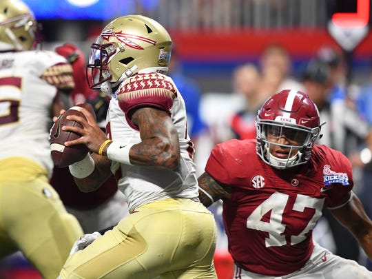 Sep 2, 2017; Atlanta, GA, USA; Florida State Seminoles
