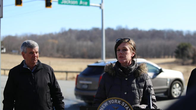 Cornwall resident Erin Talarico, who started a petition advocating for a traffic light at the intersection of Route 94 and Jackson Avenue years ago, is happy to see the light finally got installed Thursday.