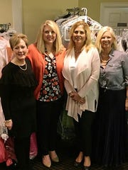 """Gowns and Cocktails - Cindy Carwile, Jennifer Bailey, Debbie Hinton, and Donna Logan hosted a fundraiser """"Gowns and Cocktails"""" to help the EVSC Foundation collect prom dresses for students. Over 180 gowns were collected in one night! Hangers, a program of the EVSC Foundation is a clothing resource for students. New and gently-used clothes 5t-2XL, coats and shoes are accepted throughout the year to reduce strain on students in need so they can focus in the classroom. To donate or volunteer, please contact (812) 435-0913 or info@evscfoundation.org"""