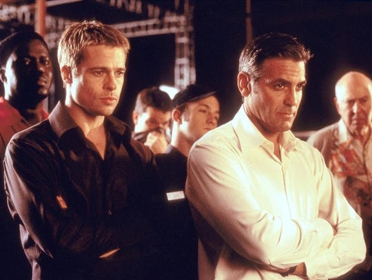 A shot of Brad Pitt and George Clooney from 2001's