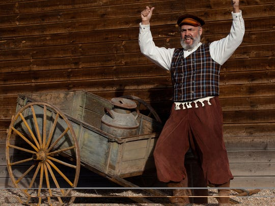 """Peter Sham rehearses for SUU's production of """"Fiddler on the Roof"""" where he will play the lead role of Tevye."""