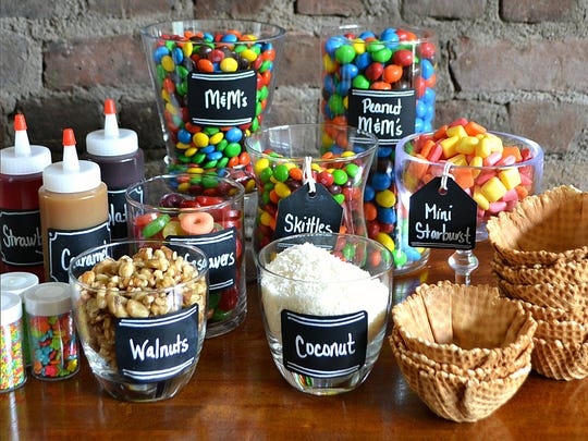 Instead of a birthday cake, make an ice cream sundae bar.