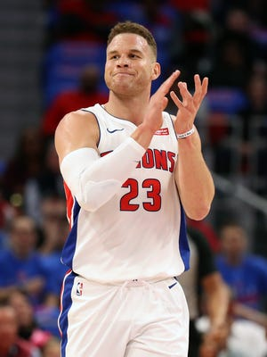 Blake Griffin scored 24 points in his debut with the Pistons against the Grizzlies on Thursday, Feb. 1, 2018.