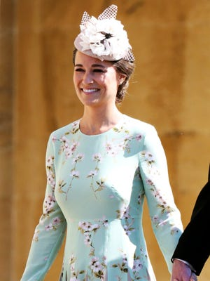 Pippa Middleton arrives at the wedding ceremony of Prince Harry and Meghan Markle in May.