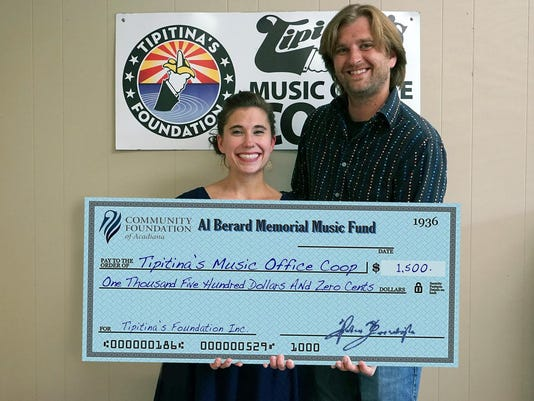 062515 Al Berard Memorial Fund Grants $1,500 to Tipitina's Foundation