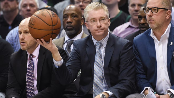 The ball is in Joe Prunty's hands after being named the Milwaukee Bucks' interim coach for the rest of the 2017-'18 season.