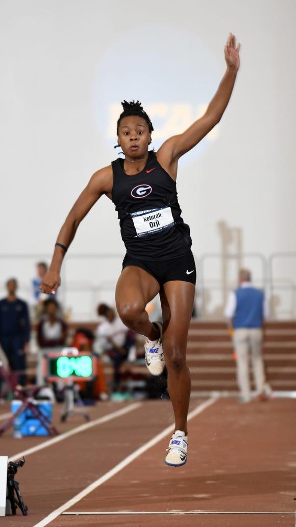 Georgia junior Keturah Orji, a Mount Olive alumna wins