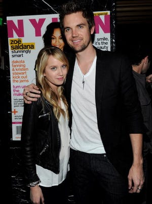 Megan Park (L) and actor Tyler Hilton attend the 11th Anniversay Celebration of Nylon Magazine at Trousdale on April 7, 2010 in West Hollywood, California.  The couple is now married.